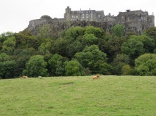 View of Stirling Castle from the town.