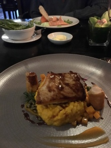 Mine was halibut with pumpkin risotto! So goo'd!
