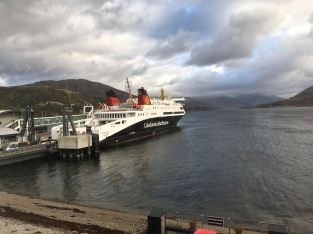 CalMac ferry from our window
