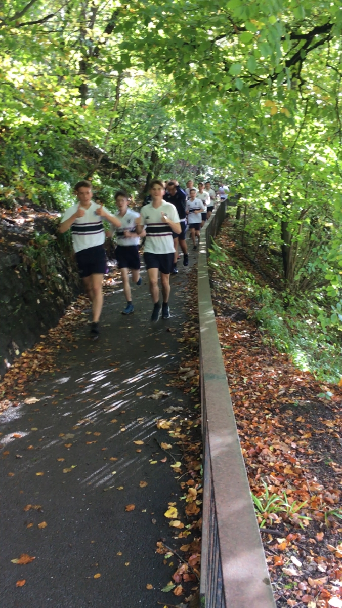 Glasgow Academy runners