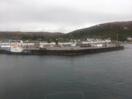 Arriving in Ullapool on the ferry