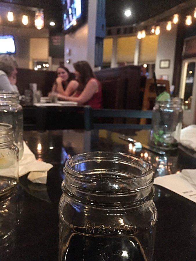 At The Mason Jar.